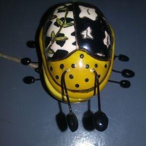 Bluesky Clayworks Love Bug Trinket Box.